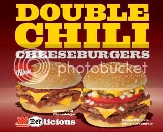 Wienerschnitzel Double Chili Cheeseburgers