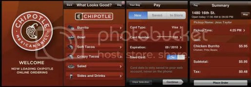 Chipotle on the iPhone