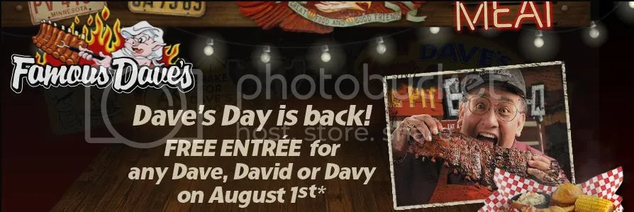 Famous Dave's 2nd Annual Dave's Day