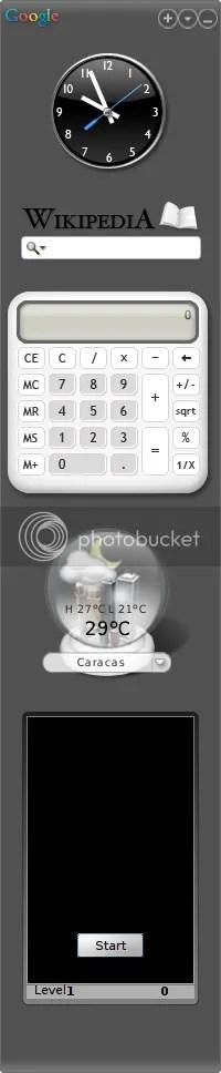 Google Gaggets Widgets Desktop App