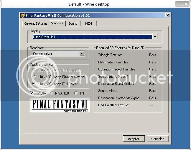 FF7Config - Graficos