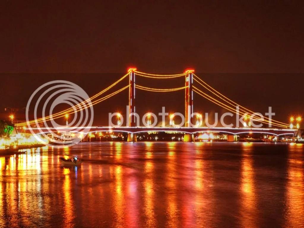 Gambar Sketsa Jembatan Ampera
