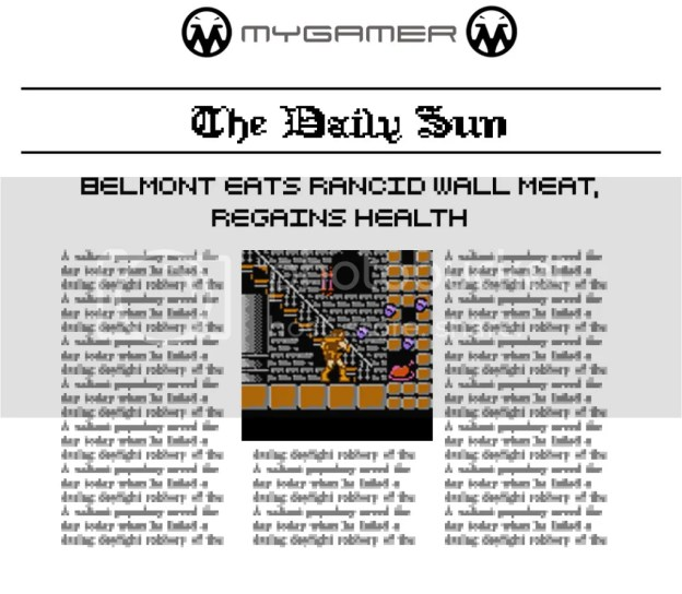 Eat Dusty Rancid Meat and Regain Health MyGamer Daily Sun - Castlevania 1 MyGamer Daily Sun – Castlevania 1 Castlevania1Newspaper