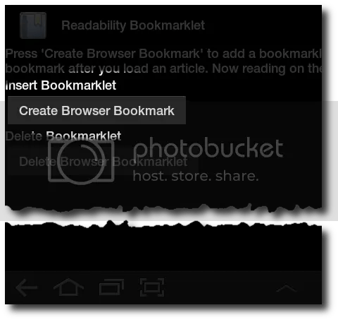 cómo crear bookmarklets en android web