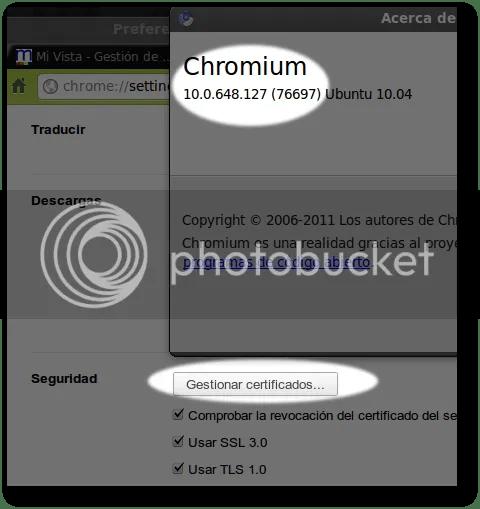 importar certificados digitales en chromium