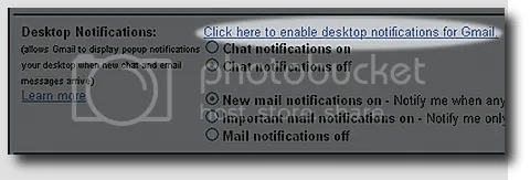 activar notificaciones escritorio de gmail