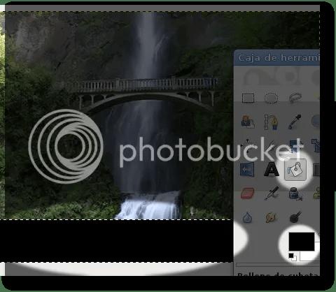 rellenar zonas de una imagen transparente