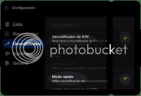 configurar reproductor películas tablet