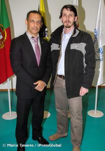 O autor, Ismael Vieira, na companhia de José Luís Sousa, Presidente da Federação Portuguesa de Taekwondo