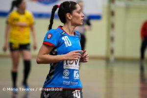Filipa Fontes foi a melhor marcadora da partida, ao apontar 9 golos