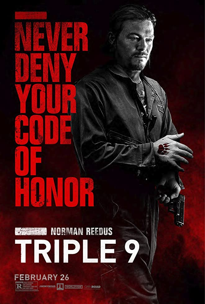 New Triple 9 Trailer Featuring Anthony Mackie, Norman Reedus & Kate Winslet 2