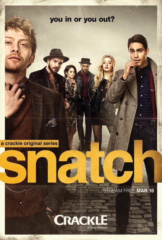 Rupert Grint, Stephanie Leonidas, Lucien Laviscount, Luke Pasqualino, and Phoebe Dynevor in Snatch (2017)