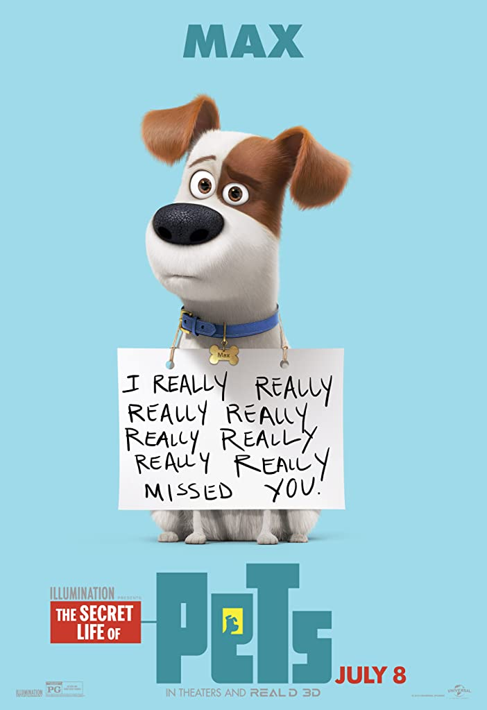 New The Secret Life of Pets Character Posters Celebrates National Pet Day 5