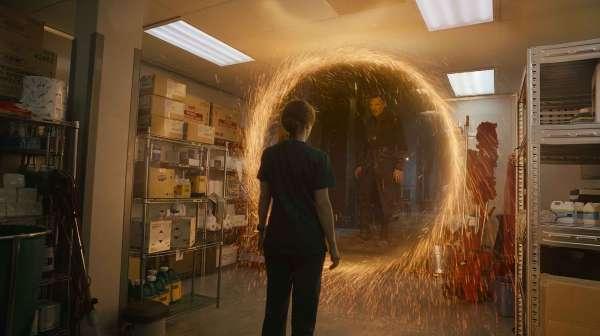 Rachel McAdams and Benedict Cumberbatch in Doctor Strange (2016)