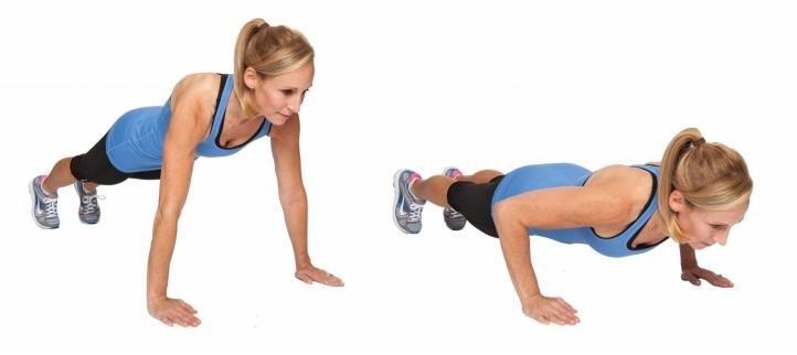 Упражнение – классические отжимания от пола