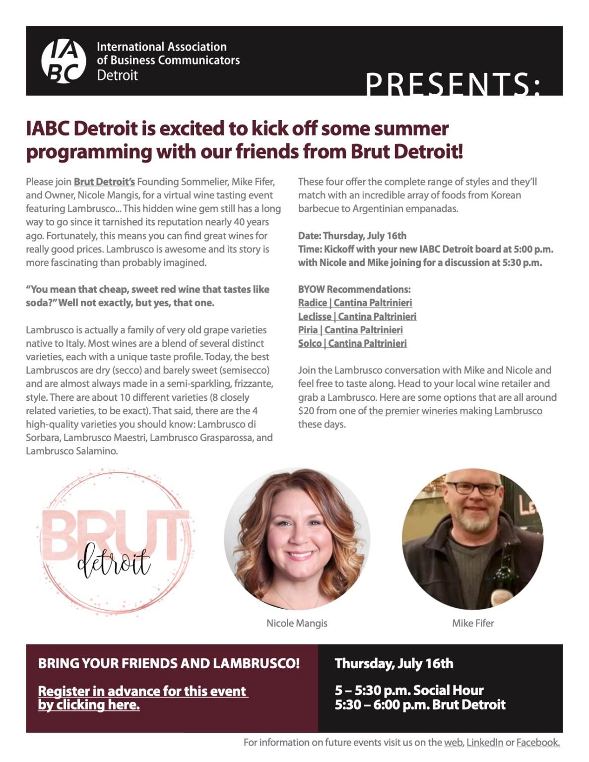 IABC Detroit + Brut Detroit HH