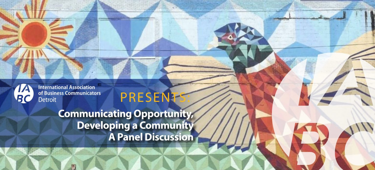 IABC_Communicating Opportunity, Developing a Community_banner
