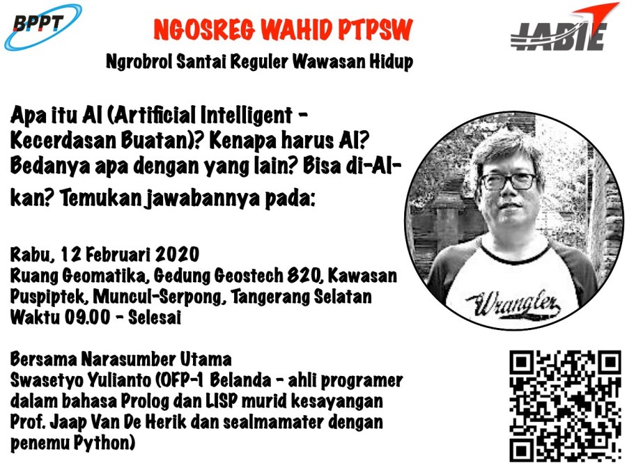 BPPT – IABIE TALKS: Apa itu AI Artificial Intelligence From Dummy- Kecerdasan Buatan