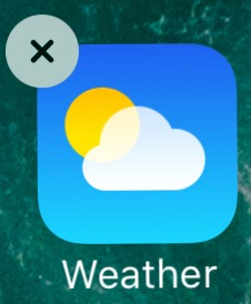 image showing Removable app icon for Weather in iOS