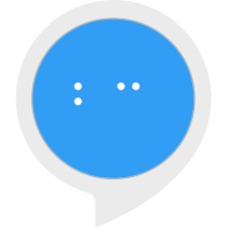 The Braille Challenge logo with letters B and C in white on a blue background over the Alexa Skills icon template.