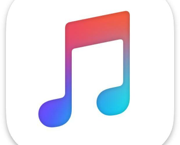 Apple Music icon with music note with many colors