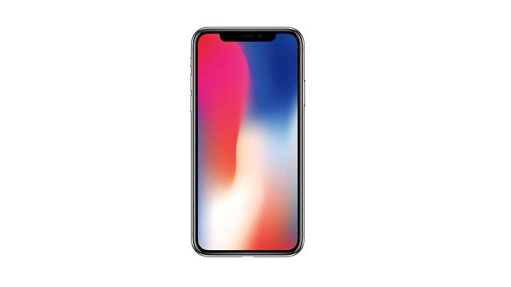 Picture of iPhone X with gradient wallpaper