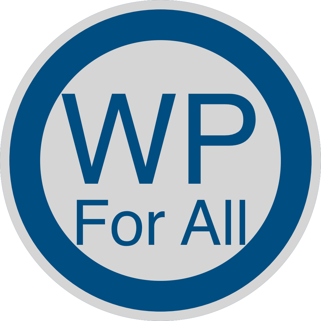 The WP For All Logo