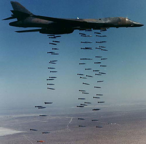 U.S. aircraft bombing Libya.