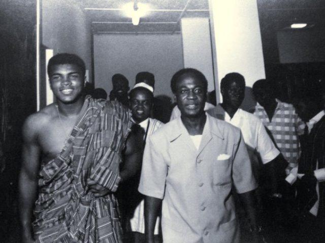 Muhammad Ali and President Kwame Nkrumah.