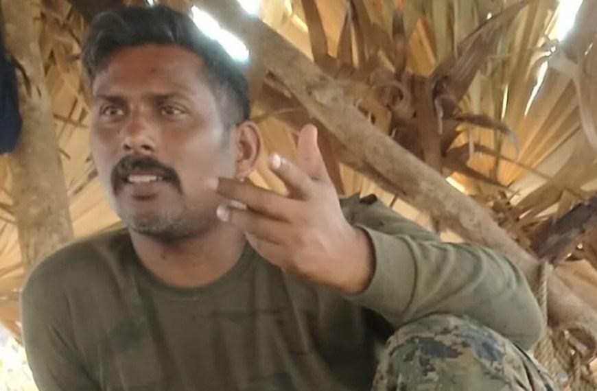 Naxals released the pic of captured CRPF Commando Rakeshwar Singh