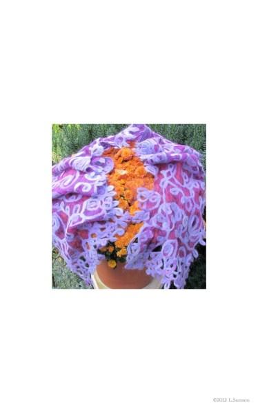 Leslie Samson, Ontario Felted 50/50 angora / merino on silk