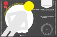 Certificates Designed for completing modules.