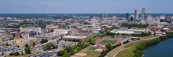 IUPUI Campus from the sky