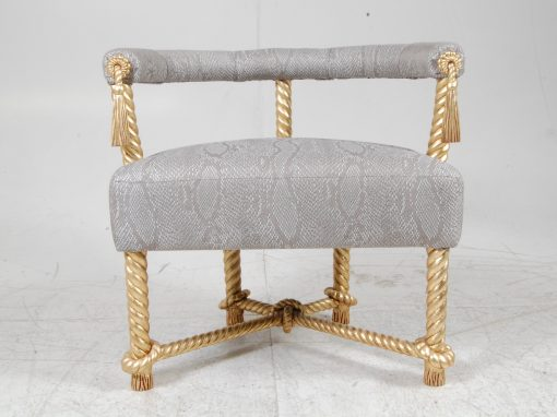 Cord Chair. Gilded Oak. Private Client