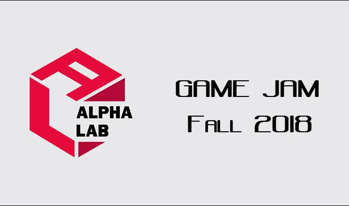Graphic for an Alpha Lab (student organization) game jam