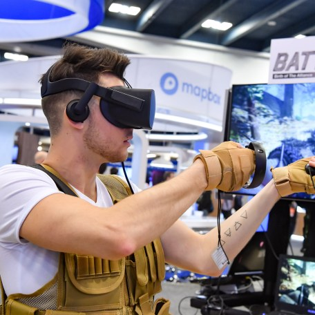 VR game being played at the Game Developers Conference