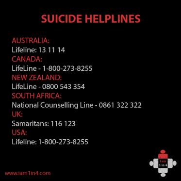 suicide helplines
