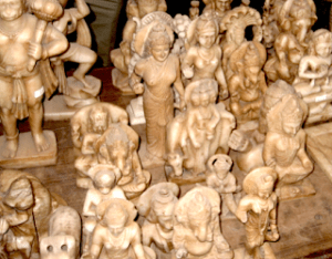Part of a collection of murtis from a recent trip