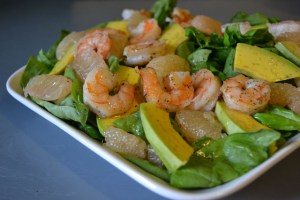 Avocado Grapefuit Shrimp Salad