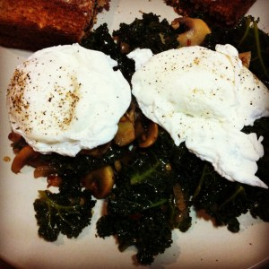 eggs with kale