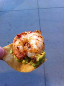 Chefs in Shorts- shrimp on chip
