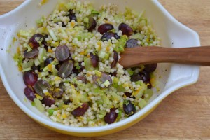 Grape Celery and Couscous Salad