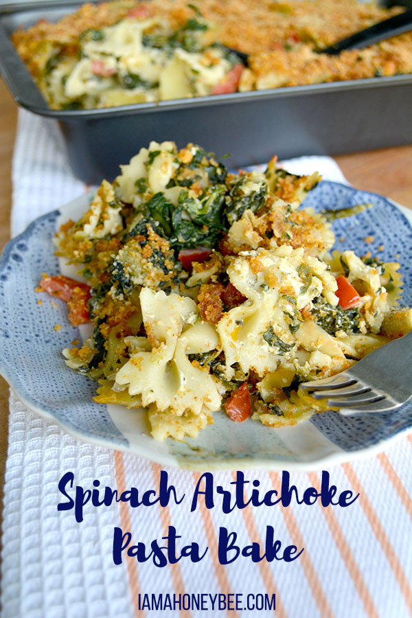 Spinach Artichoke Pasta Bake_PIN