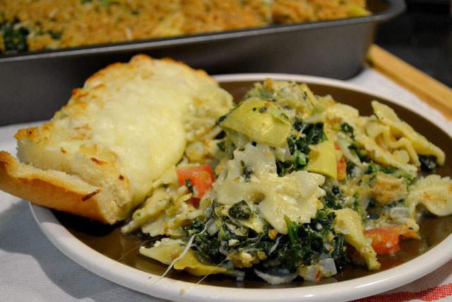 Spinach Artichoke Pasta Bake_01
