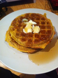 TJ's pumpkin waffles