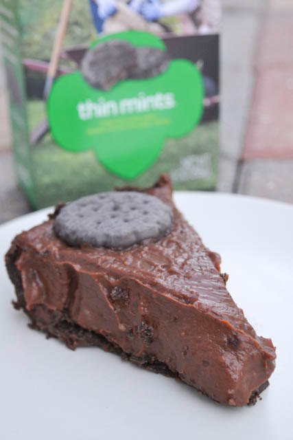 Thin Mint Cookie Pie