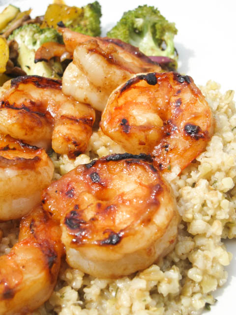 Citrus Apple Butter Glazed Shrimp-04