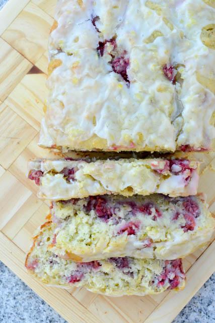 Lemony Raspberry Zucchini Bread-5