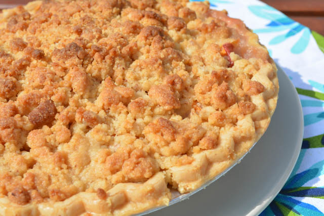 Streusel Topped Peach Pie-4