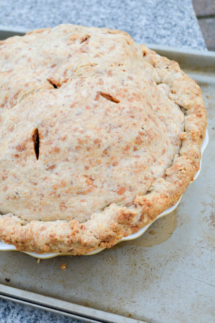 Deep Dish Apple Pie with a Cheddar Rosemary Crust-9